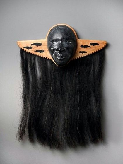 <strong>2003, breast plate with stone mask, private collection (photo by Michael Jones)</strong>