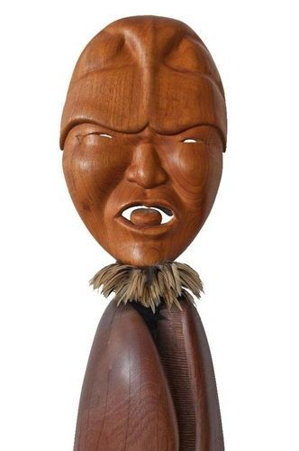 <strong>2007, First Breath, face, collaboration with Natalie Jensen,  Alaska Native Art Foundation, Anchorage (photo by Tim Rice)</strong>