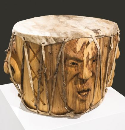 <strong>2015 Three voices bridging the Gap, Drum, Anchorage Museum, Alaska</strong><br><p>2015 Three Voices Bridging the Gap, pow-wow style drum<br />purchased by the Anchorage Museum, Anchorage, Alaska</p>