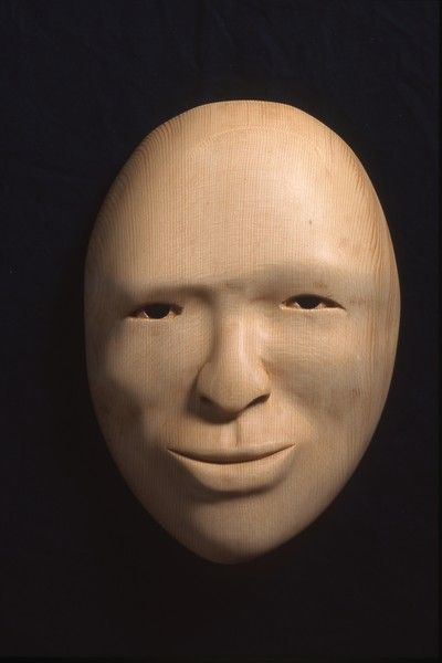 <strong>2000, port orford cedar mask, private collection (photo by Michael Jones)</strong>