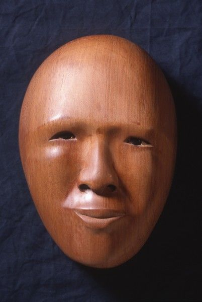 <strong>2000, red cedar mask, private collection (photo by Michael Jones)</strong>