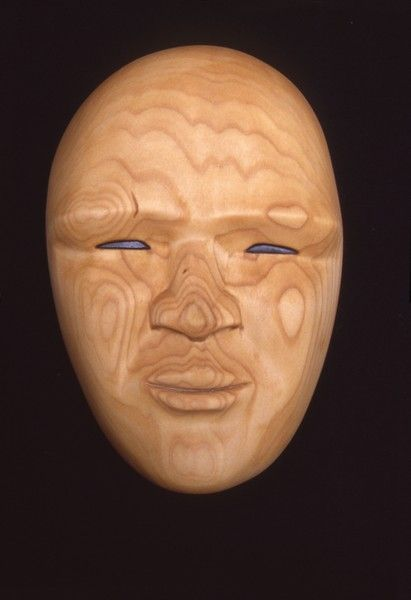 <strong>1998, bass wood mask, private collection</strong>