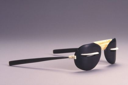<strong>2001, snow glasses, Anchorage Museum, (photo by Michael Jones)</strong>