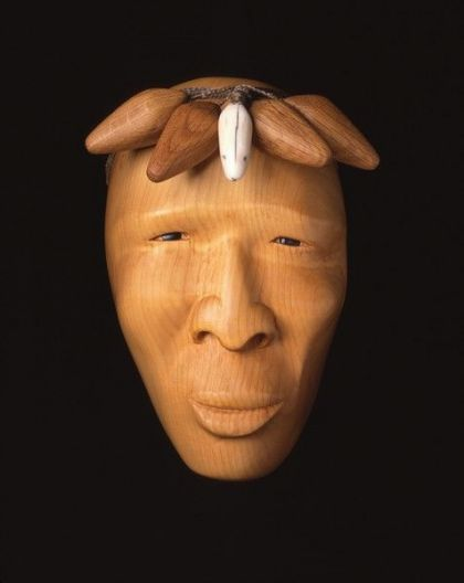 <strong>1999 Chukchi Duck Hunter, took first place in North West Coast Masks in 1999, private collection (photo by Michael Jones)</strong>