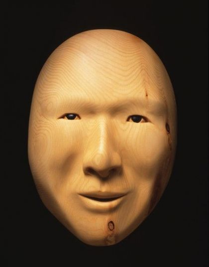 <strong>2001, yellow cedar mask, private collection (photo by Michael Jones)</strong>